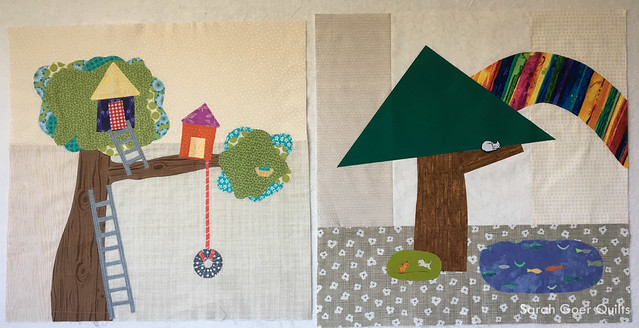 Kids Quilt Round Robin KQRR treehouse theme