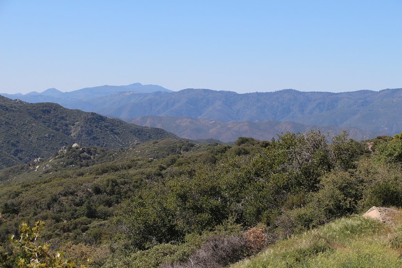 View from Rough Road of Cuyamaca Peak, Volcan Mountain, and the San Felipe Hills