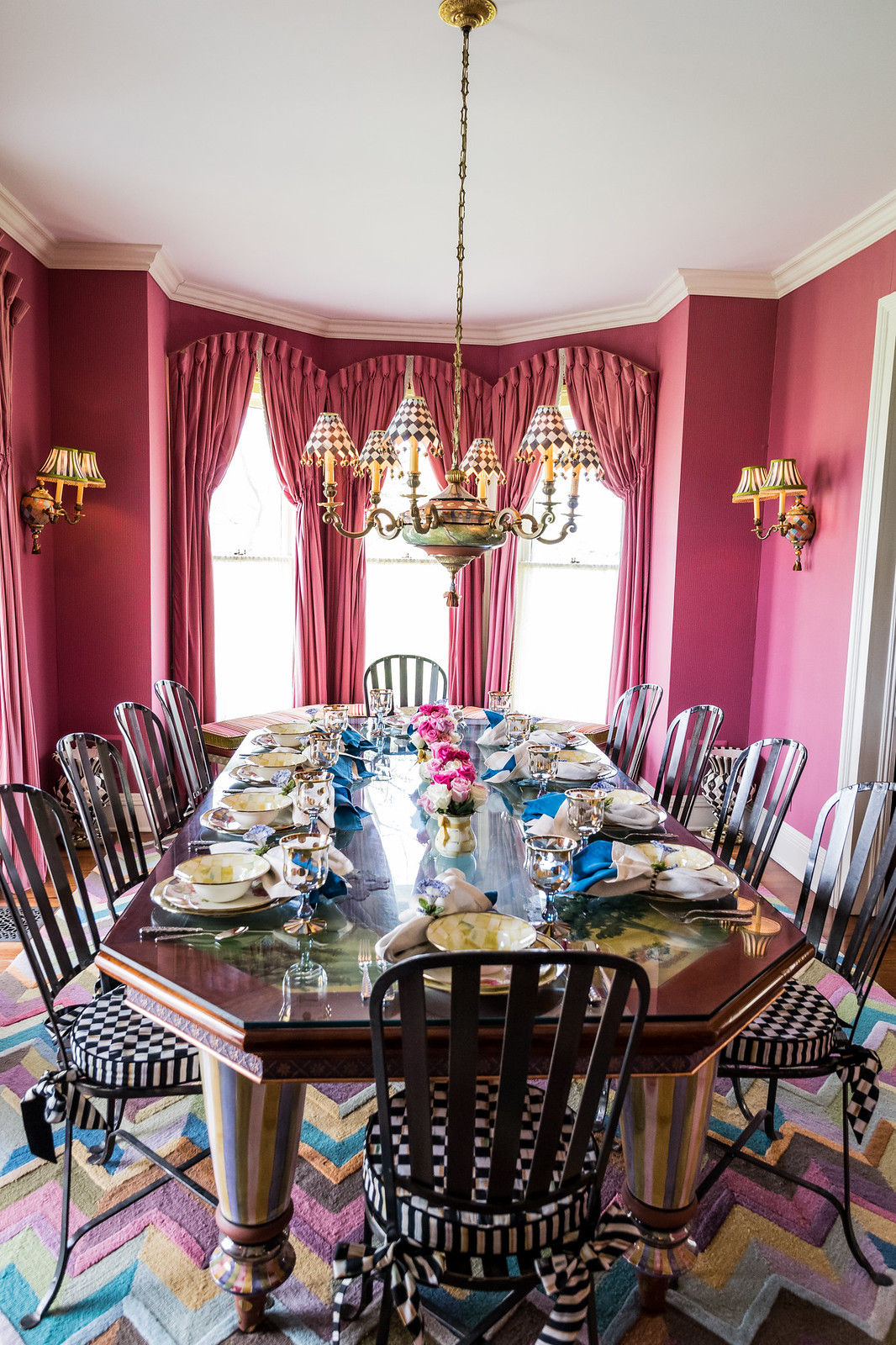 we enjoyed several meals in the Mackenzie-Childs farmhouse dining room