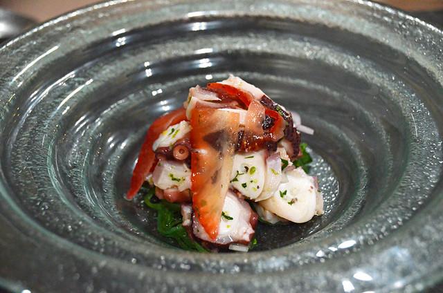 Octopus and strawberry ceviche, La Arena 53, La Orotava, Tenerife