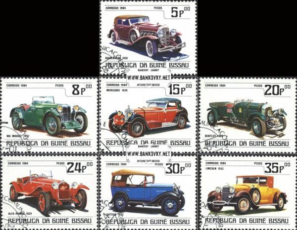 Známky Guinea Bissau 1984 Staré autá, nerazítkovaná séria