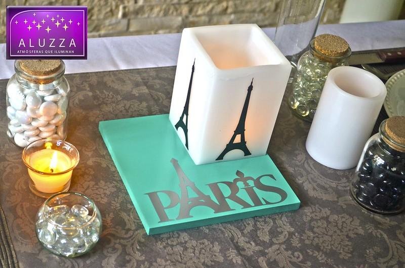 Centro de Mesa para Decoracion de XV Años Tematicos de Paris ALUZZA