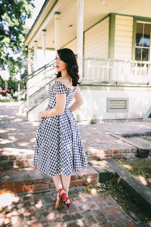 The Pretty Dress Company Fatale Swing Dress in Gingham