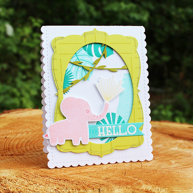 Elephant Hello Card