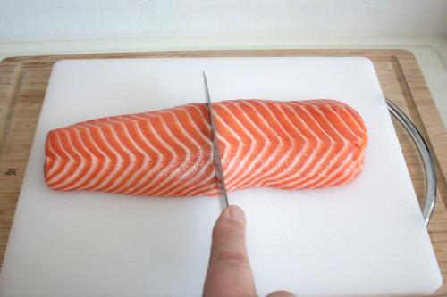 23 - Lachs halbieren / Half salmon