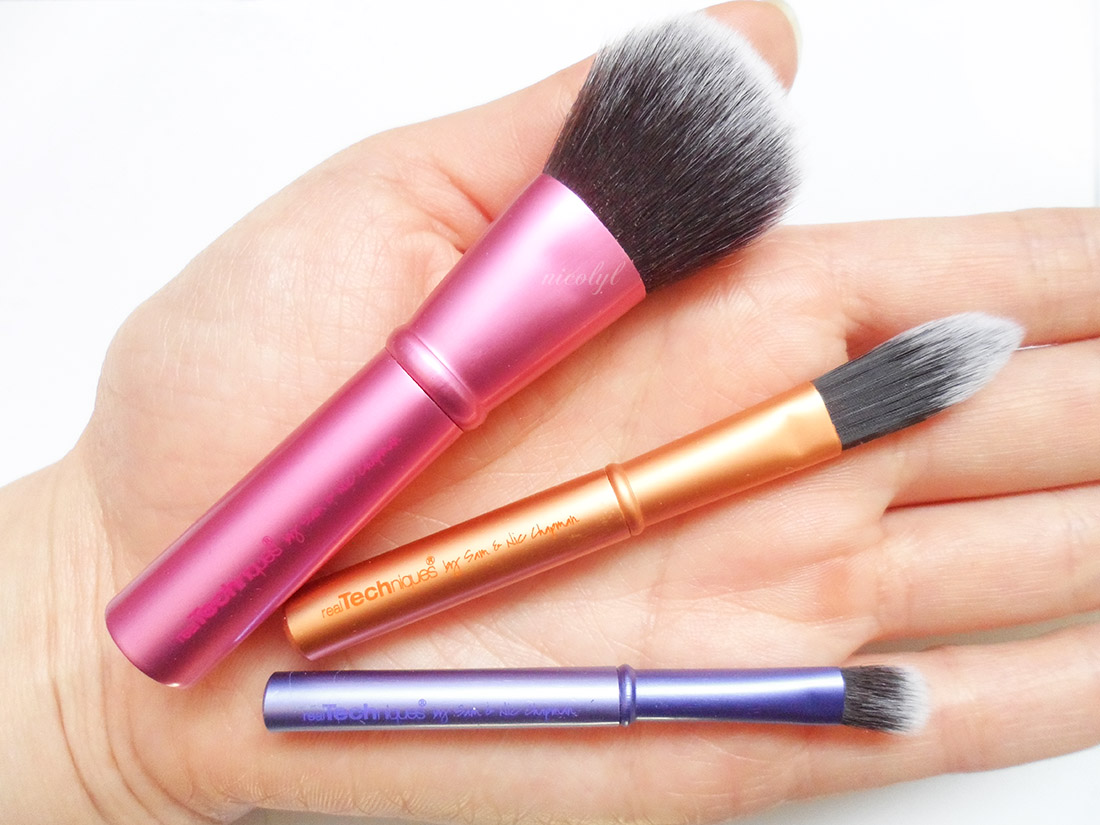 Real Techniques Mini Brush Trio review size