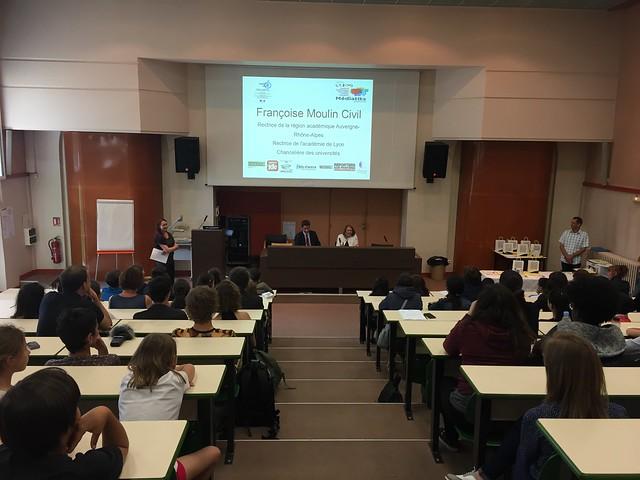 Cérémonie de remise des prix du concours des journaux scolaires Mediatiks proposé par le Clemi de l'académie de Lyon