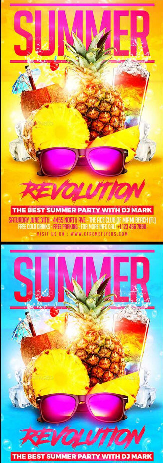 Summer party flyer #1 – summer party flyer for Photoshop