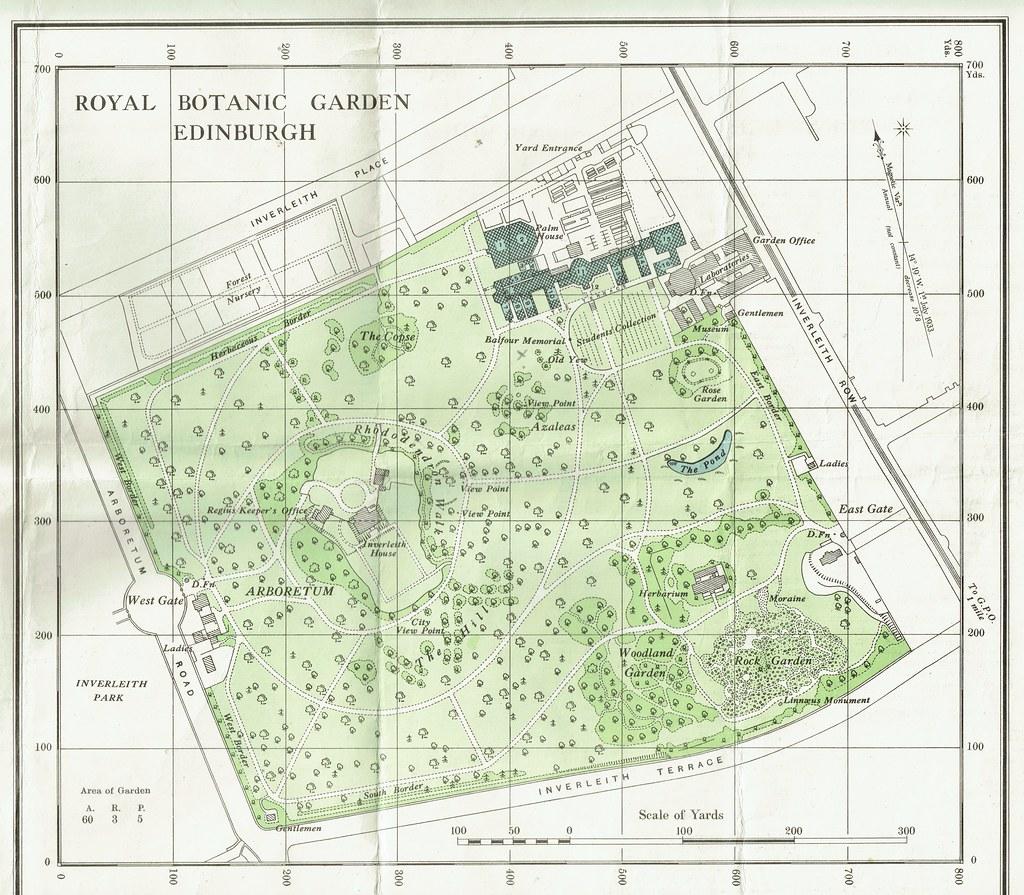 Ordnance Survey Keyplan to the Royal Botanic Gardens Edi Flickr