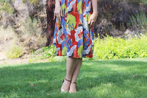 Trashy Diva Jayna Dress in Cranes Print Southern California Belle
