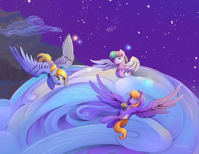 blossomforth_derpy_and_cloudkicker_close_up_by_viwrastupr