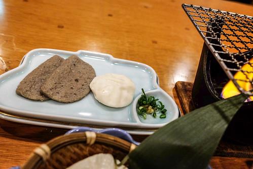静岡炙り焼き(黒はんぺんと静岡B級グルメちんちん揚げ)Ito Palace hotel breakfast 03
