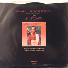 WHITNEY HOUSTON:SAVING ALL MY LOVE FOR YOU(JACKET B)