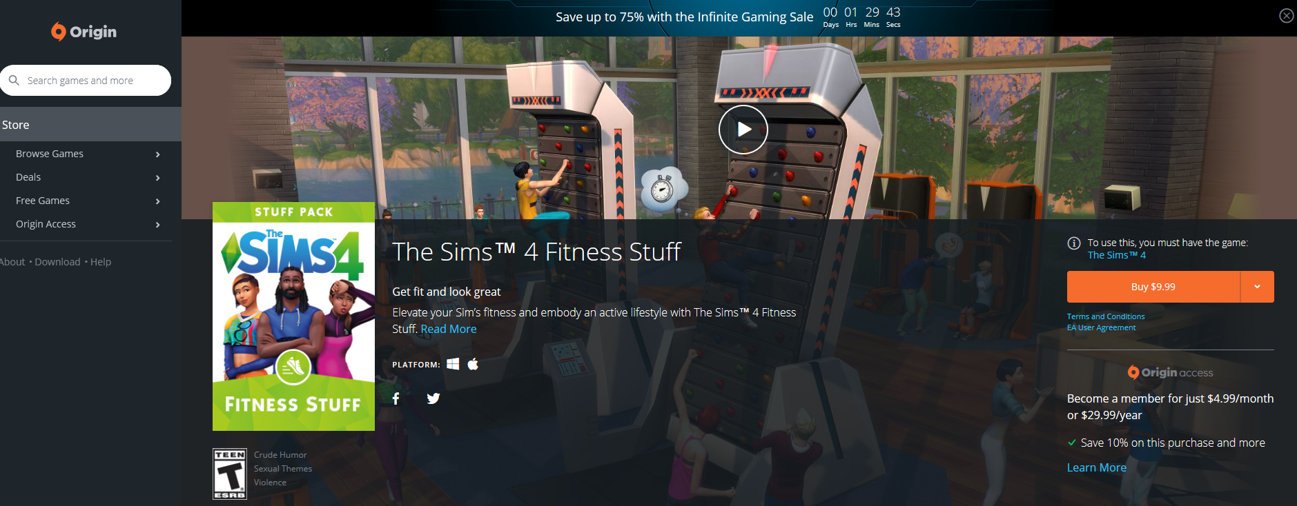 the sims 4 fitness stuff pack now available at origin simsvip