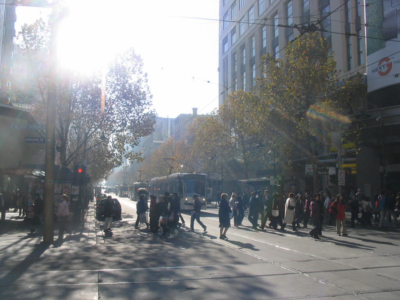 Swanston Street and Bourke Street, June 2007