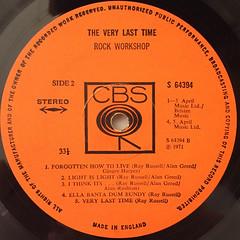 ROCK WORKSHOP:THE VERY LAST TIME(LABEL SIDE-B)