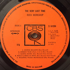 ROCK WORKSHOP:THE VERY LAST TIME(LABEL SIDE-A)