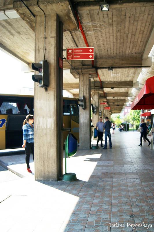 Перроны автобусной станции в Подгорице