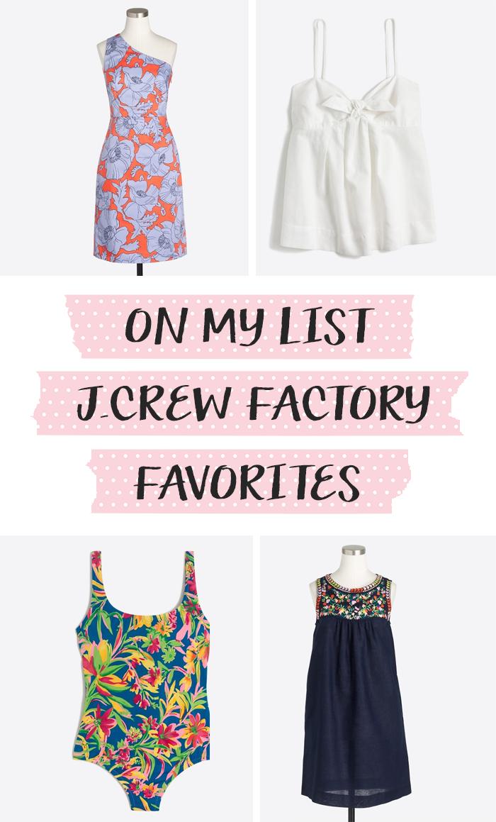 jcrew factory summer 2017 favorites