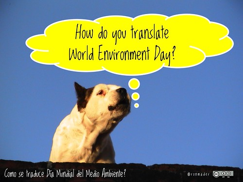How do you translate World Environment Day? = Como se traduce ¿Día Mundial del Medio Ambiente? #usatuvoz #withnature (Creative Commons license: attribution-sharealike)