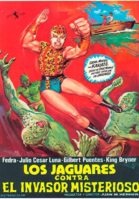 Póster de la película Los Jaguares contra el Invasor Misterioso