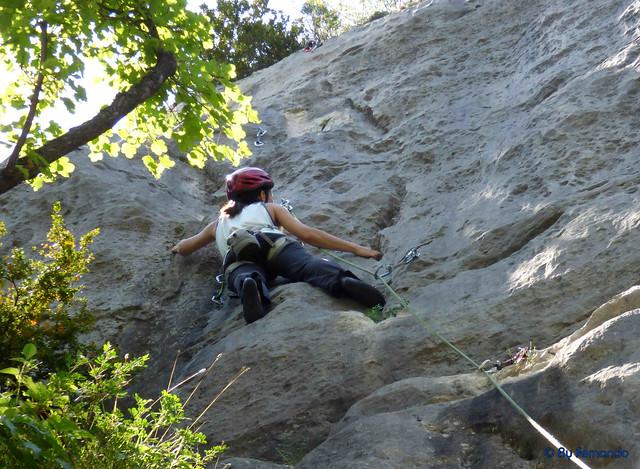 Gemma Clofent - Bugada, 6a+_b -03- El Grau de Sant Climent, Sector A (10-06-2017)