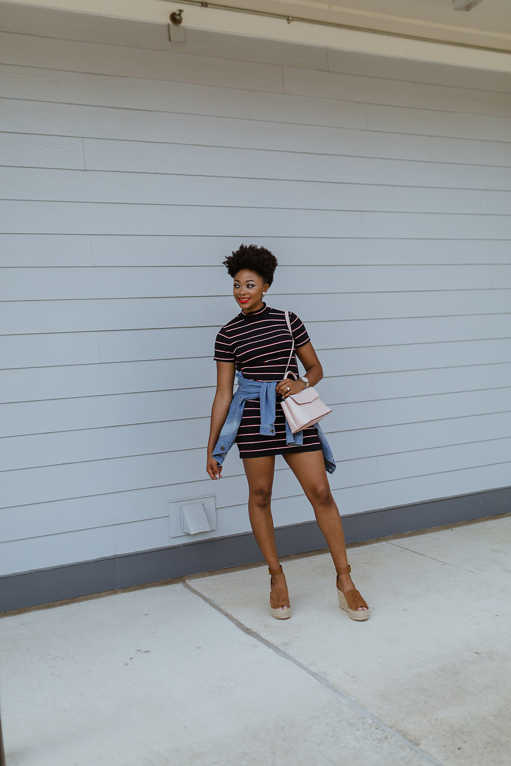 how to wear a striped bodycon dress, the beauty beau
