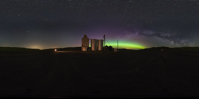 360 Image - Milky Way & Northern Lights
