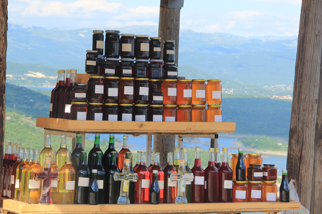 Homemade produce for sale at Slansko Lake