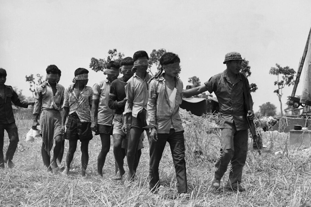 Vietnamese Soldiers Holding Prisoners During Second Offens