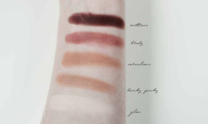 colourpop matte shadows swatches