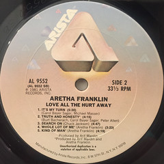 ARETHA FRANKLY:LOVE ALL THE HURT AWAY(LABEL SIDE-B)