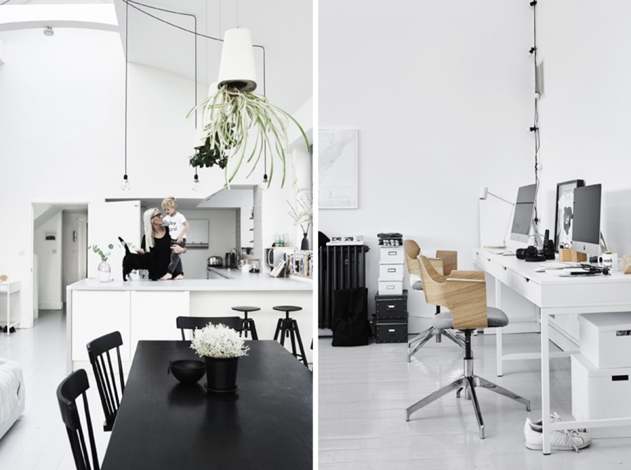 White Scandinavian Ikea Home