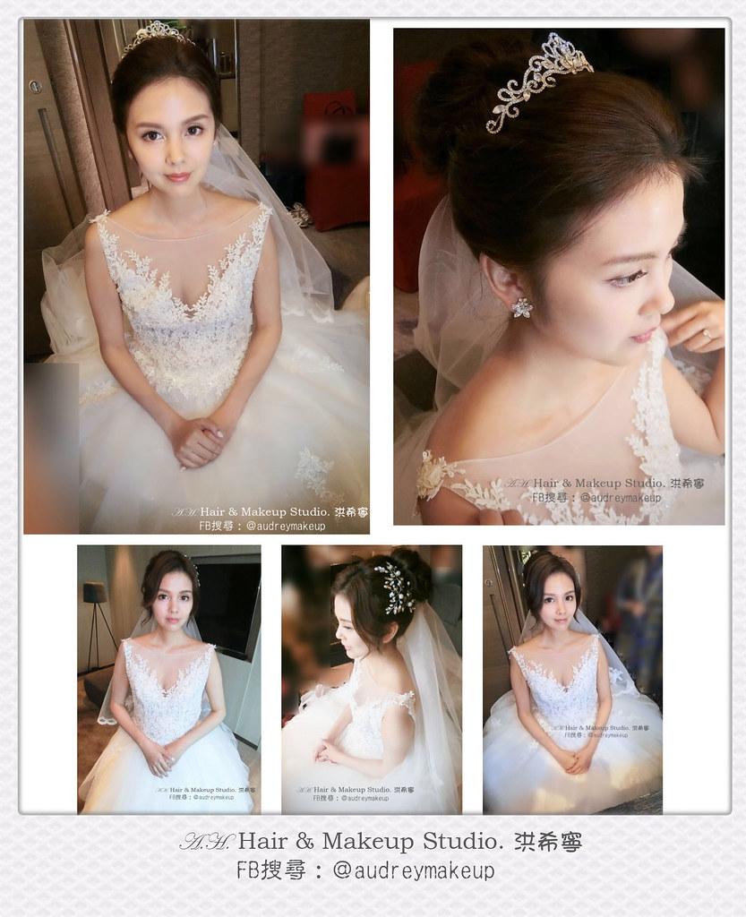 歐式新娘造型 名媛風新娘造型 新秘希寧 Fb搜尋 Audreymakeup 白紗髮型 敬酒髮型 送客髮
