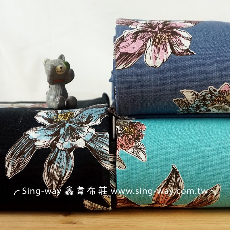 原-愛玩耍的兔子 花與兔子 動物手工藝DIy拼布布料 CF550585
