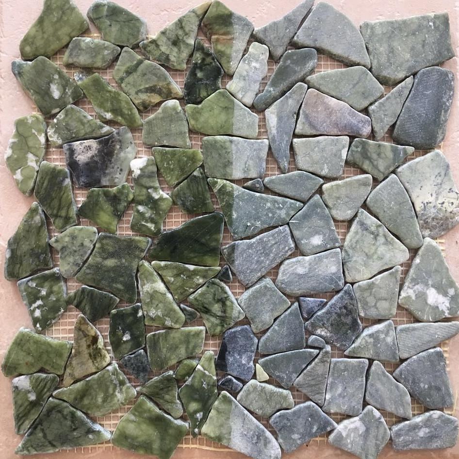 Marmor Bruch Auf Matten Jade Grün Gemischt Naturstein Mosaik Bruchmarmor  Fliesen