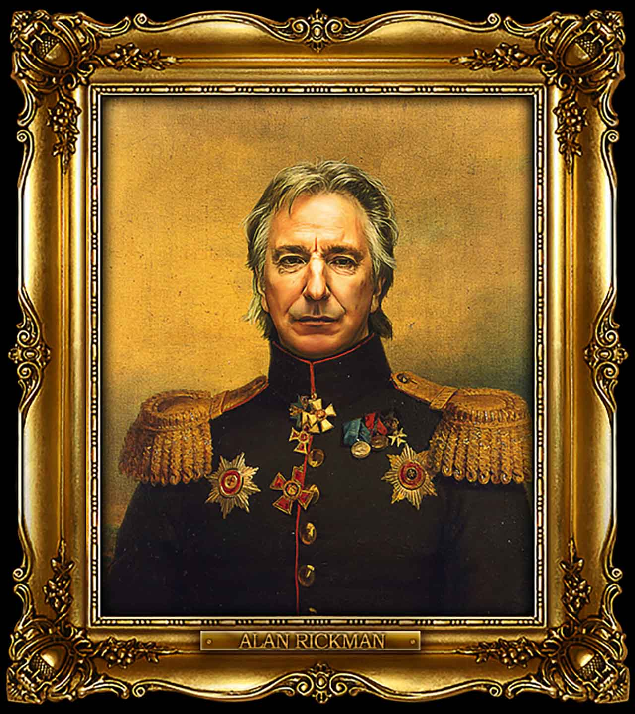Artist Turns Famous Actors Into Russian Generals - Alan Rickman