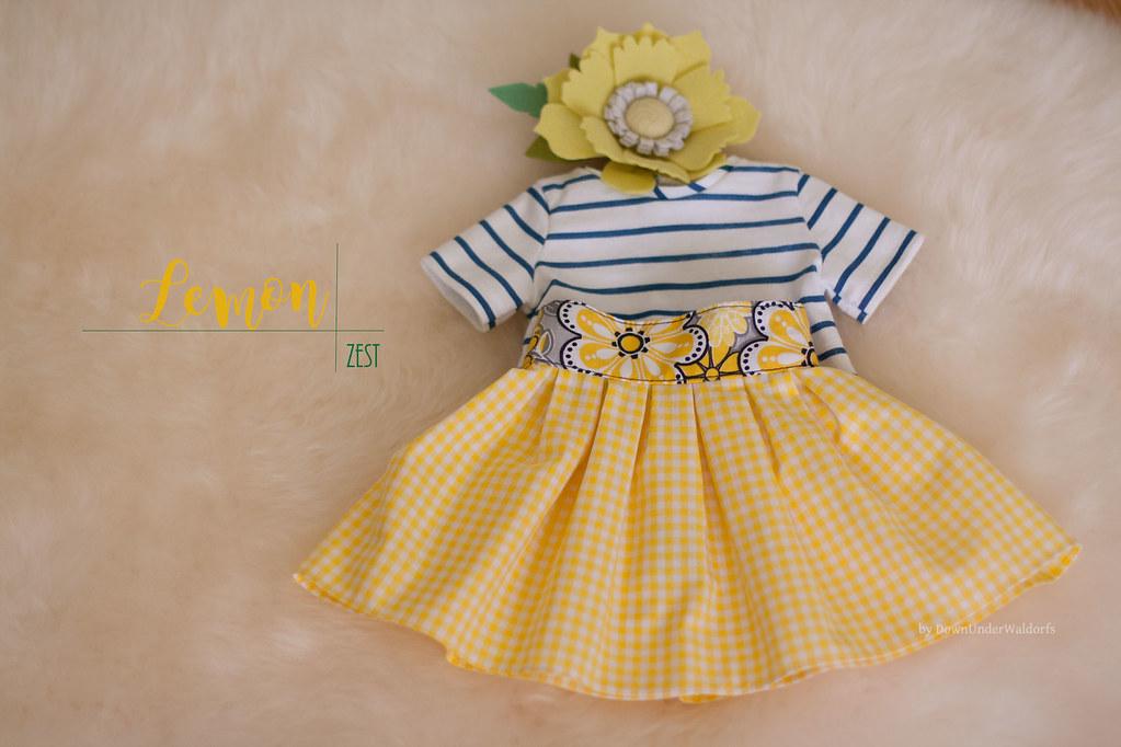 "Lemon Zest - set of clothing for 15-17"" cloth dolls"