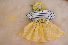 "Lemon Zest - set of clothing for 15-17"" cloth dolls"
