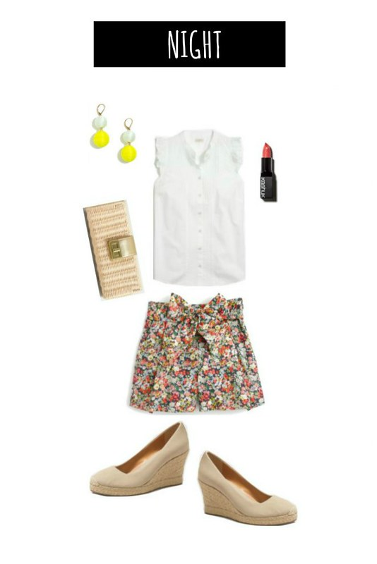 3 ways to wear floral shorts night | Style On Target blog