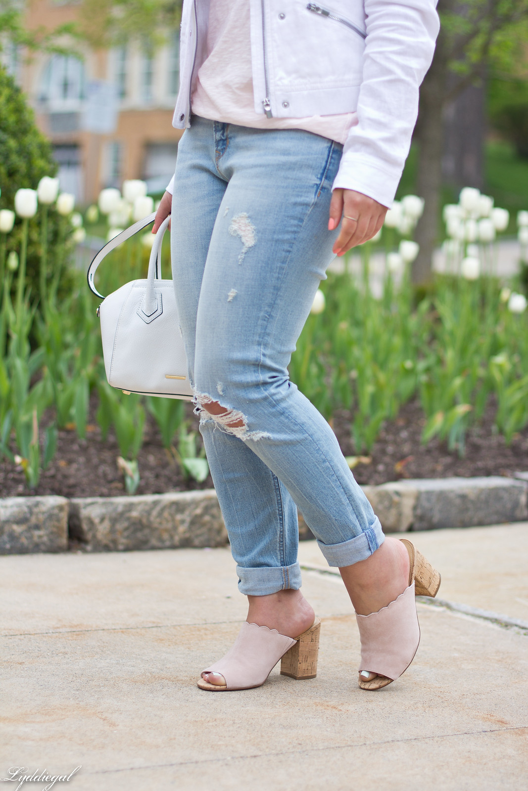 white jacket, blush tee, boyfriend jeans, scalloped mules-6.jpg
