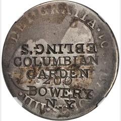 Ebling's Columbia Garden Counterstamp obverse