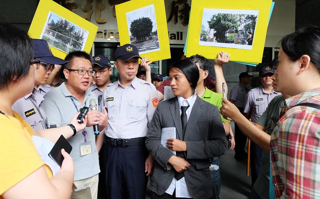 20170524 護樹團體抗議新北樹保開會黑箱