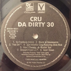 CRU:DA DIRTY 30(LABEL SIDE-A)