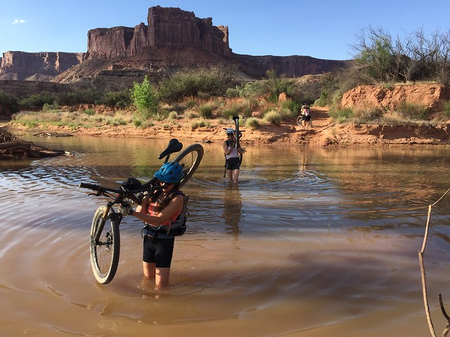 Water obstacle on the White Rim