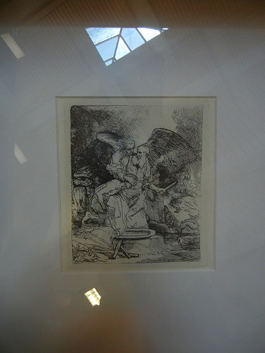 DSCN8719 - The Sacrifice of Isaac, Rembrandt, Etching, 1655