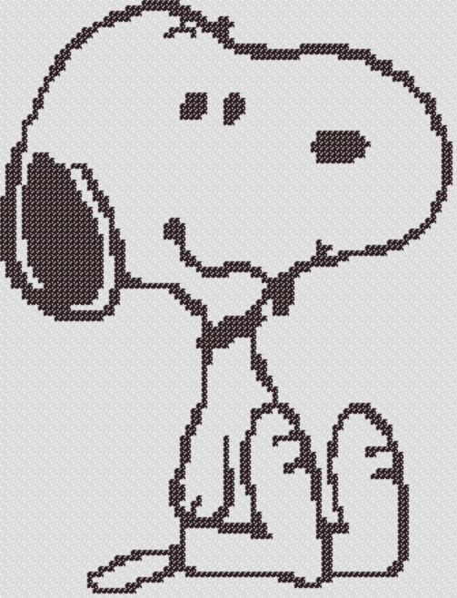 Preview of Cross Stitch Patterns: Peanuts Snoopy