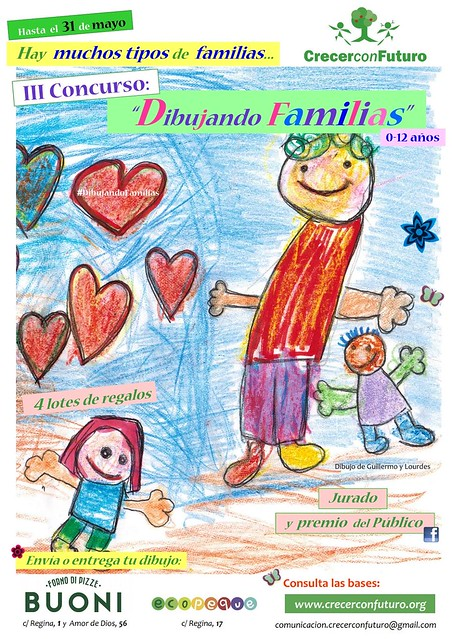 Cartel del Concurso Dibujando Familias de la Ong Crecer con Futuro