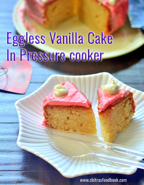 How to make eggless cake in pressure cooker