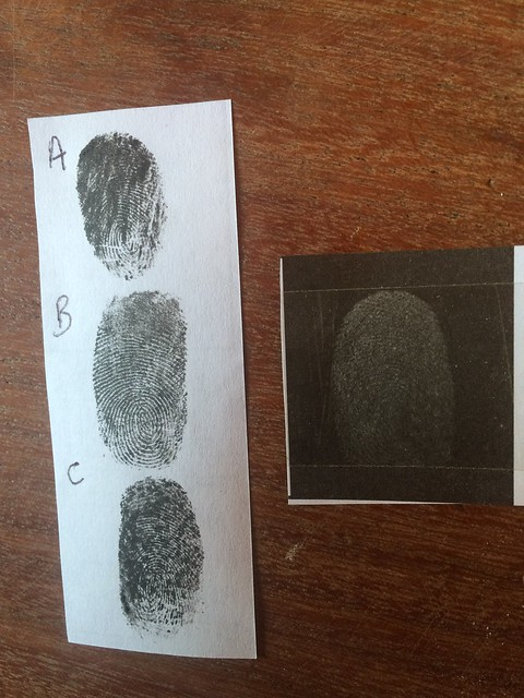 Messy fingerprints activity from chapter 5 of Messy Church Does Science